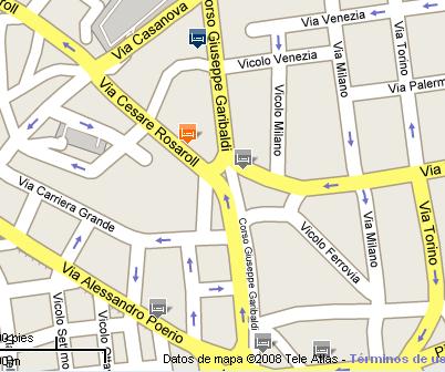 Plano de acceso de Prati Hotel