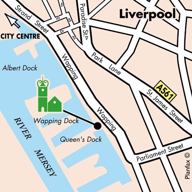 Plano de acceso de Hotel Campanile Liverpool