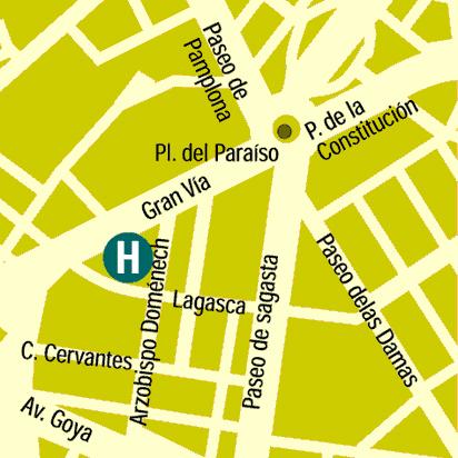 Plano de acceso de Hotel Husa Zaragoza Royal