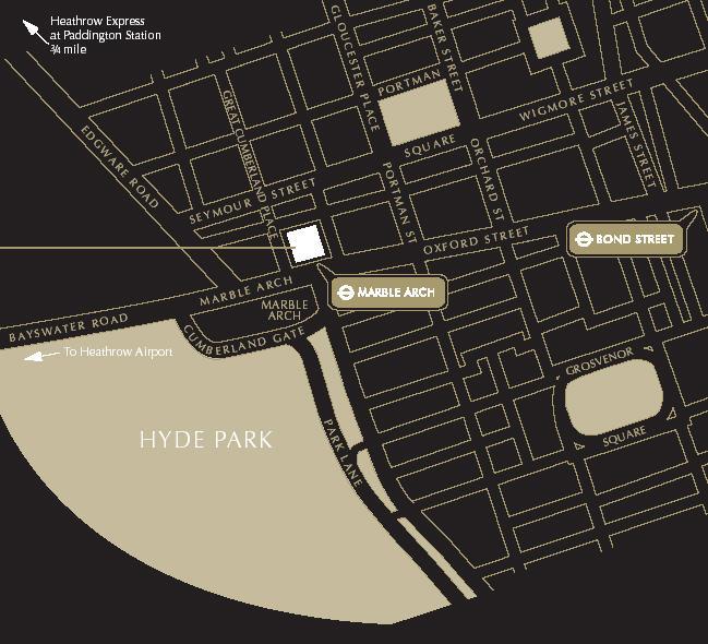 Plano de acceso de Cumberland Hotel