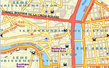 Plano de acceso de Hotel Radisson Blu Lyon