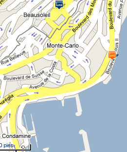 Plano de acceso de Hotel Fairmont Monte Carlo