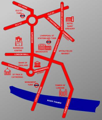 Plano de acceso de Hotel Crowne Plaza London Shoreditch