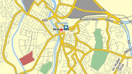 Plano de acceso de Mercure Inverness Hotel