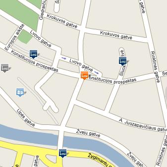 Plano de acceso de Hotel Holiday Inn Vilnius