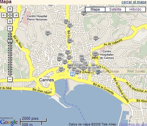 Plano de acceso de Hotel Colette (Ex Interhotel Atlas)