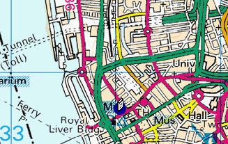 Plano de acceso de Radisson Blu Liverpool Hotel