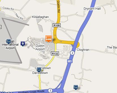 Plano de acceso de Clarion Dublin Airport Hotel