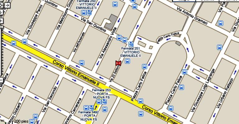 Plano de acceso de Albergo Astoria Hotel