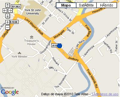 Plano de acceso de Monkbar Hotel
