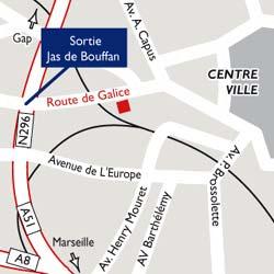 Plano de acceso de Best Western Hotel Le Galice