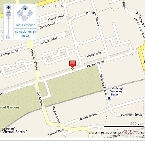 Plano de acceso de Hotel Mount Royal Ramada Jarvis