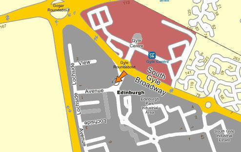 Plano de acceso de Quality Edinburgh Airport Hotel