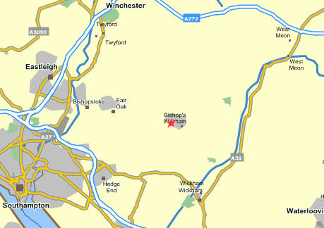 Plano de acceso de Macdonald Botley Park Hotel