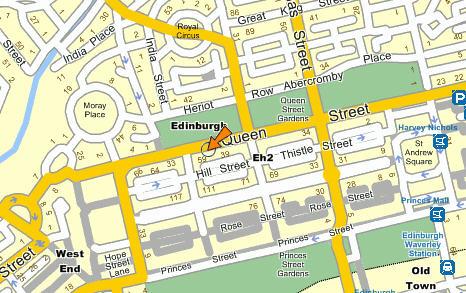 Plano de acceso de Apex City Hotel