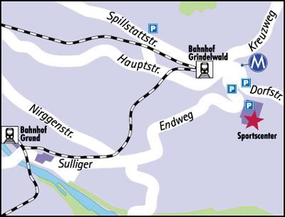 Plano de acceso de Bernerhof Hotel