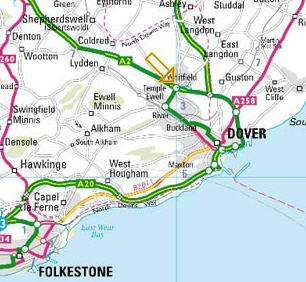 Plano de acceso de Hotel Ramada Dover