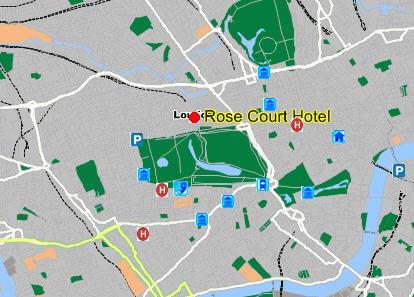 Plano de acceso de Hotel Rose Court (Paddington)