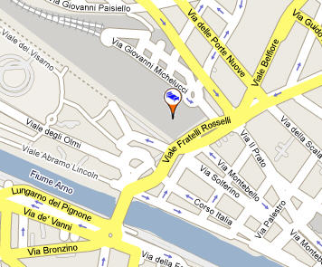 Plano de acceso de Hotel Firenze