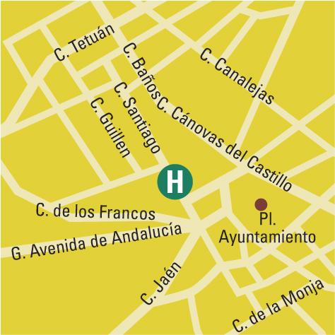 Plano de acceso de Hotel Santiago