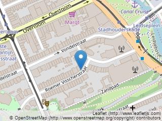 Plano de acceso de Leidse Square Hotel