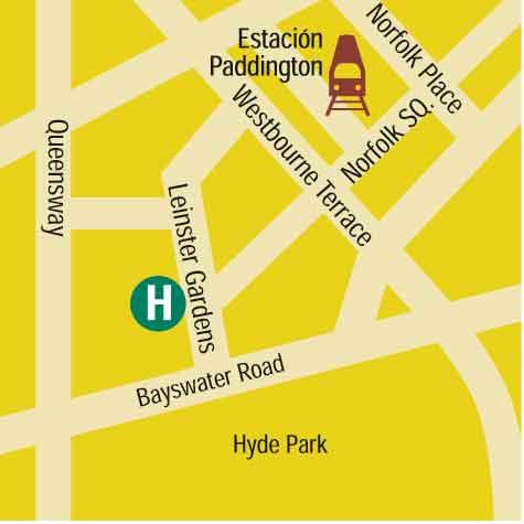 Plano de acceso de Hotel Blakemore Hyde Park