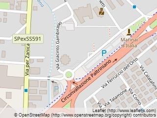Plano de acceso de Starhotels Cristallo Palace