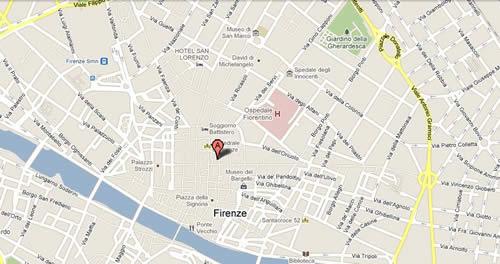Plano de acceso de Hotel Brunelleschi