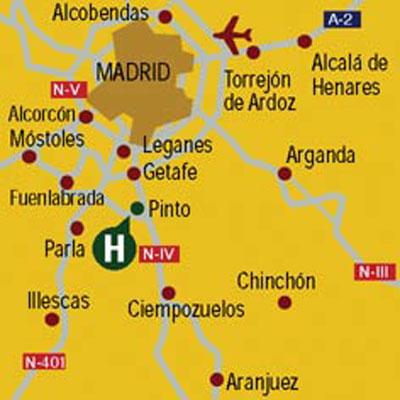 Plano de acceso de Hotel Aptos. Princesa De Eboli
