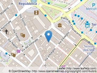 Plano de acceso de Starhotels Metropole