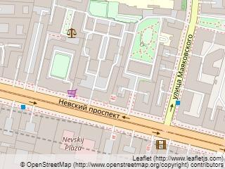 Plano de acceso de Nevsky Grand Hotel