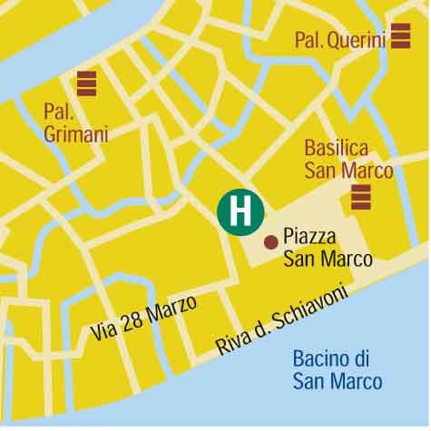 Plano de acceso de San Marco Hotel Cavalletto