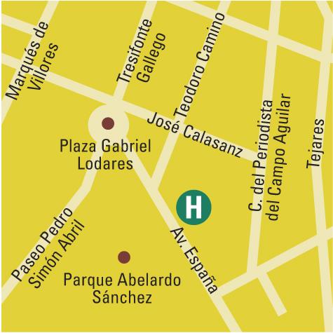 Plano de acceso de Hotel Los Llanos