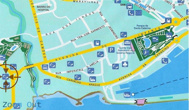Plano de acceso de Hotel Quinta Perestrello