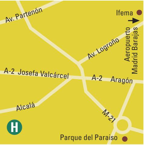 Plano de acceso de Hotel Barcelo Torre Arias
