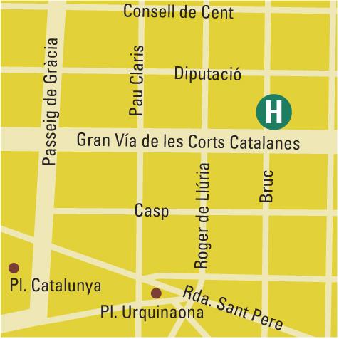 Plano de acceso de Silken Gran Hotel Havana