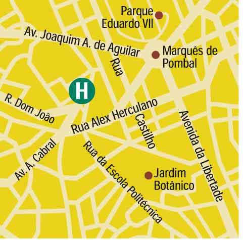 Plano de acceso de Hotel Clarion Suites