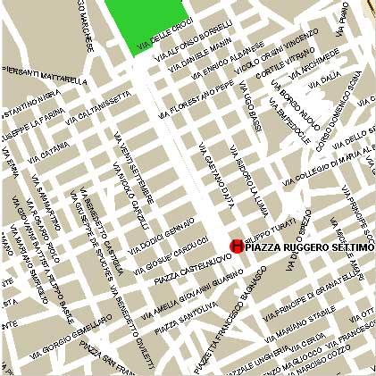 Plano de acceso de Hotel Politeama