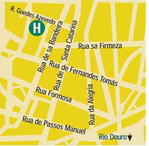 Plano de acceso de Hotel Dom Henrique