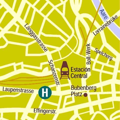 Plano de acceso de Sorell Hotel Ador