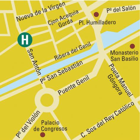 Plano de acceso de Hotel Citymar San Anton