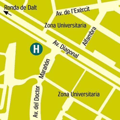 Plano de acceso de Hotel Rey Juan Carlos I