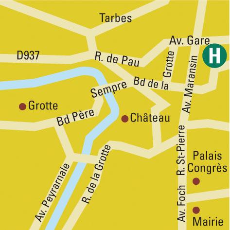 Plano de acceso de Hotel B.W. Beausejour
