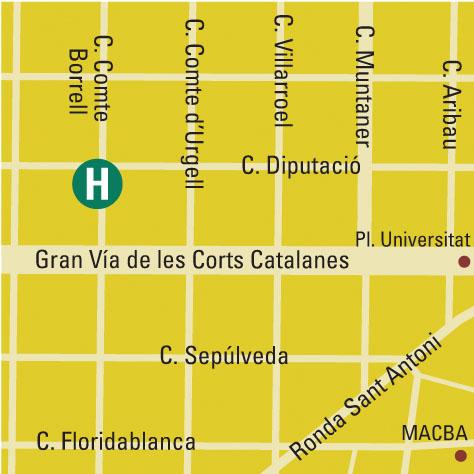 Plano de acceso de Hotel Del Comte