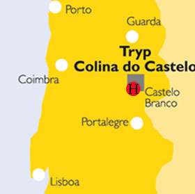 Plano de acceso de Hotel Tryp Colina Do Castelo
