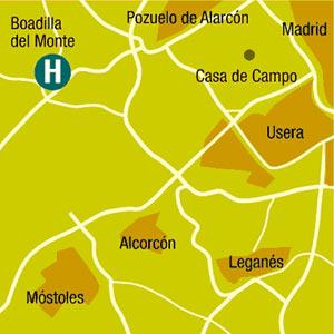 Plano de acceso de Hotel Husa Via Madrid