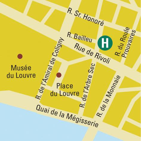 Plano de acceso de Hotel L'empire Paris (75001)